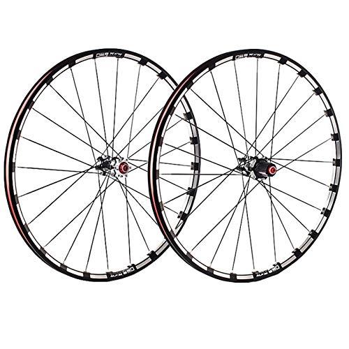 ZCXBHD 26/27,5/29 Pulgadas Fibra Carbon Cubo Bicicleta Montaña Juego De Ruedas MTB Delantera Trasero Rueda 5 Rodamiento Pared Doble 7 8 9 10 11 Velocidad Casete
