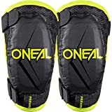 O'Neal | Protector de codo | Motocross Enduro | Ajuste cómodo y dinámico, ajustable con correas elásticas, Edad 4-9 años | Pee Wee Elbow Guard | Niños | Negro Neón Amarillo | Talla M/L