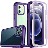 Temdan Bumper Case Compatible with iPhone 12 Case,Compatible with iPhone 12 Pro Case,Full Body Protector Rugged Shockproof Cover (2020)