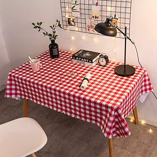 XXDD Mantel Rosa Orgulloso Mantel Impermeable y a Prueba de Aceite Tela Red Sol Rojo Mesa de Centro Mesa de plástico Mantel A14 135x160cm