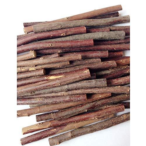 100 palos de madera para troncos de madera, ramas naturales, para manualidades, fotos, 10 cm diameter 3-5mm 100