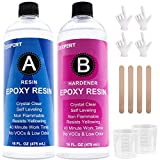 32OZ Epoxy Resin and Hardener Kit Crystal Clear for Jewelry DIY Art Crafts Cast...