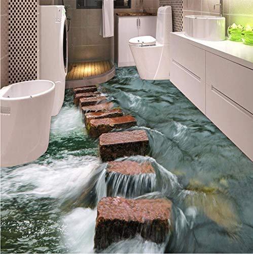 Papel tapiz fotográfico 3D personalizado Piso País Presa griega Mural de pared Papel de pared impermeable para baño PVC autoadhesivo Pegatinas de pared-Tamaño personalizado: 1M2