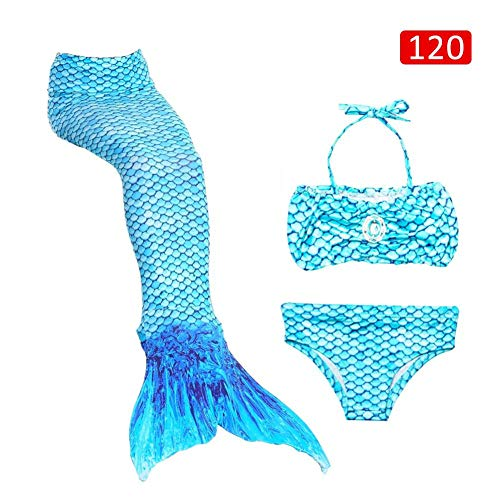 Dadahuam Kinder Meerjungfrau Tails zum Schwimmen, Badeanzug Bademode Kostüm COS Geschenk für Kinder/Mädchen Party Supplies masterwork