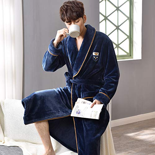 SleepWears Nachtkleding Pyjama Sets Winter Heren Nachtjapon Met harige Lange Style Warm Bad Heren Flanel