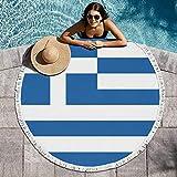 JECIA HOLDER Round Beach Towel...