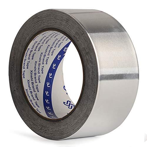 Geïsoleerde hittebestendige aluminiumtape, aluminiumfolieplakband, geleidend, licht reflecterend voor HVAC-reparatie, kanalen, drogers, sieraden maken & maken 50mm x 30m