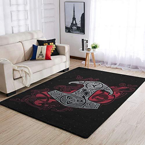 O3XEQ-8 Weich Viking Tattoo Teppiche Dekorieren Wohnzimmer Teppiche - für Büro White 122x183cm