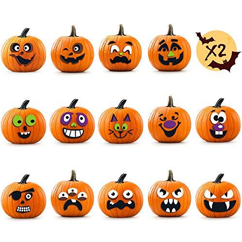 Halloween Pumpkin Decorating Kits - Pumpkin Stikers Decorating 28 Halloween Pumpkin, Funny DIY Foam Stickers for Kids, Inspire Kids Endless Creativity, DIY Gifts for Toddlers, Birthday Gifts for Kids
