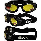 BIFOCAL Motorcycle Goggles - KITE by Birdz - Various Lens Color Options Bifocal Strength: 1.50 Yellow Tint