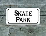 Skate Park Metal Sign for Backyard Skateboard Shop Vintage Aluminum Metal Signs Tin Plaque Wall Art Poster for Garage Man Cave Cafe Bar Pub Club Patio Home Decoration 12