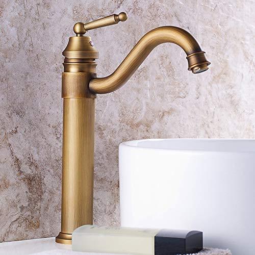 No brand WZXtaps keukenkraan badkraan bassin kraan Ex-messing kraan badkamer met enkele handgreep vintage dek Berg Torneiras hete koude badmengkraan waterkraan maximale duurzaamheid
