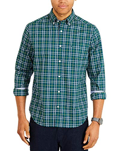 Nautica - Camisa de Manga Larga para Hombre
