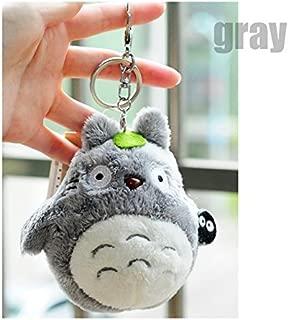 Bamboo's Grocery Totoro Plush with Keychain,Best Gift for Children, My Neighbor Totoro Totoro Studio Ghibli, Gray