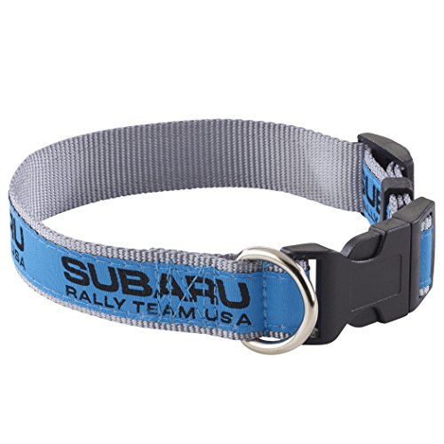 Subaru Gear Subaru Rally Team USA Pet Dog Cat Soft Web Walk Collar WRX Sti 3 Sizes Racing (Large)