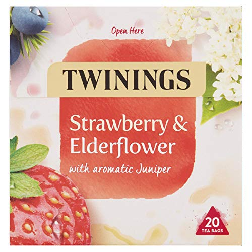 Twinings Strawberry and Elderflower Herbal Tea bags - 20 Tea bags