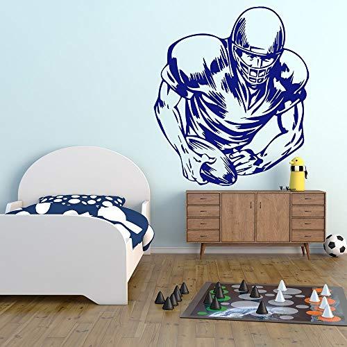 yiyiyaya American Rugby Player Skizze American Sports Whiteboard Wandaufkleber Gym Home Art Decals Dekoration Abnehmbare 56X67 cm