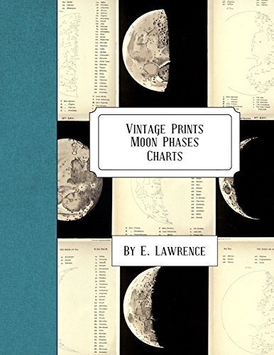 Vintage Prints: Moon Phases: Charts