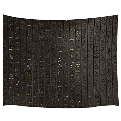KOTOM Ancient Egyptian Hieroglyph Tapestry, Wall Art Hanging Bedroom Living Room Dorm 71X60Inches Wall Blankets