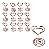 12pcs Soportes para Números de Mesa Forma de Corazón Soporte de Foto Soporte...