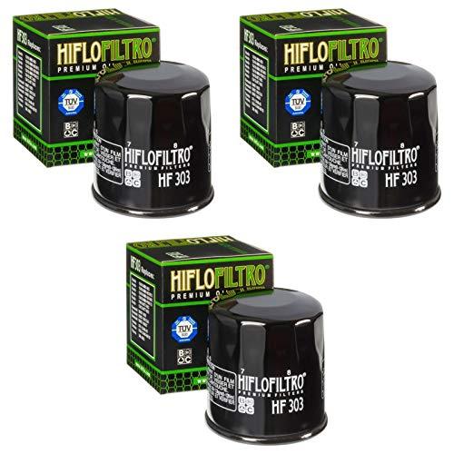 3x Filtre à l'huile Honda PC 800 Pacific Coast 89-90 Hiflo HF303