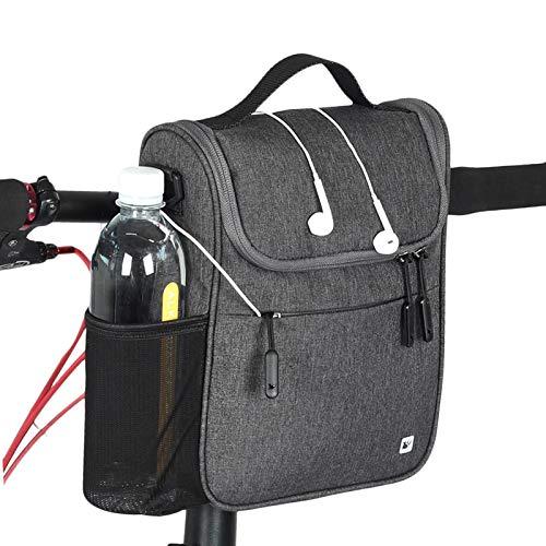 Rhinowalk Fahrrad Lenkertasche wasserdichte Fahrradtasche für Lenker mit Regen Abdeckung (Grau)