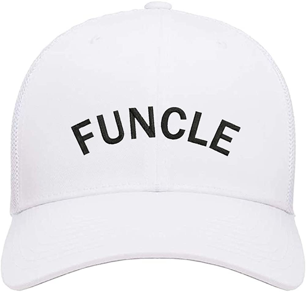 N-A White Trucker Hats Dad Caps with Embroidery Snapback Hat Funcle