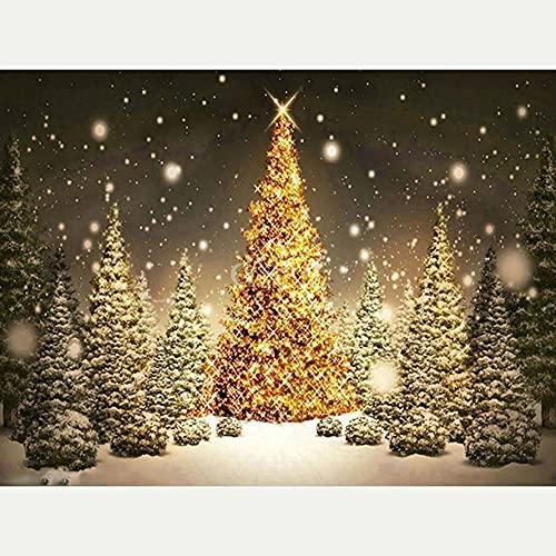 Sugamm 5D Diamond Painting Navidad Kit Completo, Bricolaje Punto De Cruz Diamante Pintura Kit Decoración De La Pared De La Oficina Del Dormitorio De Las Manualidades 50x65cm 0311