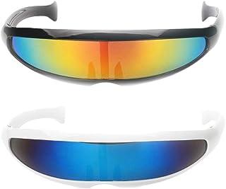 a6af3cb98f Sharplace 2 Par de Gafas de Sol Espejos Cyclops Futuristas Monolitos  Fiestas de Disfraz Extraterrestre