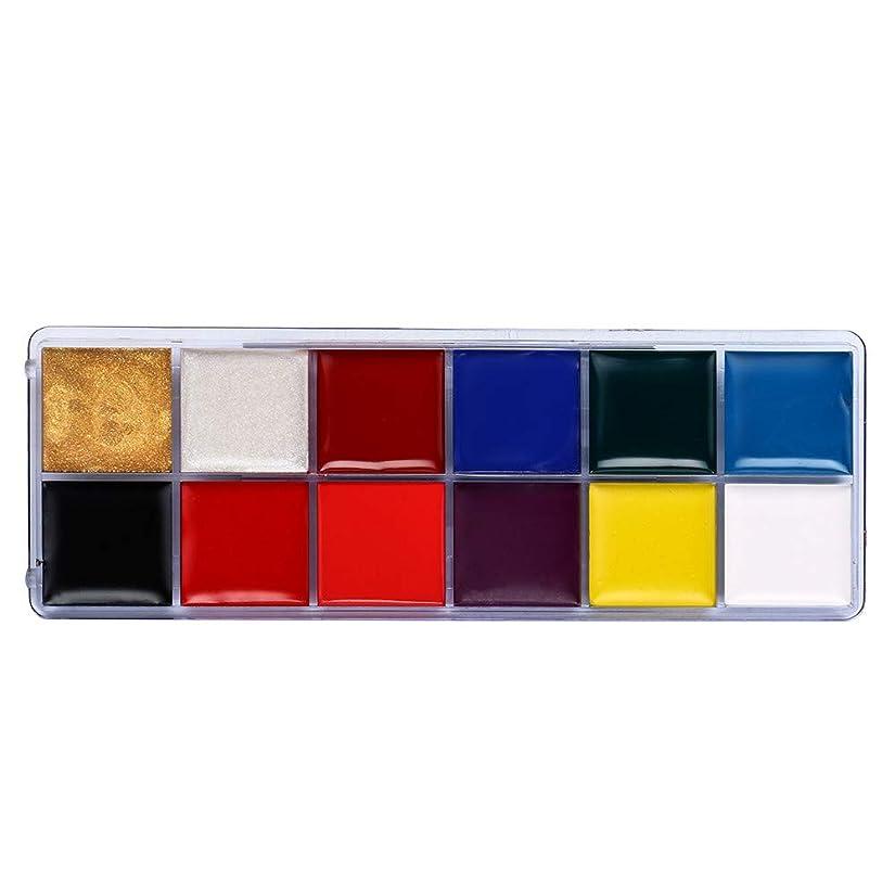 隣接利得洗剤12色ボディ塗装オイルカラードラマピエロハロウィンメイクアップフェイスカラー