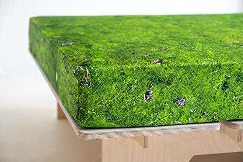 FOONKA HAYKA, Spannbettlaken aus Jersey, 200x220 cm, Moos, Grün