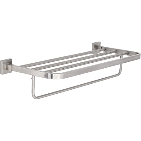 Kraus Kea 14442bn Aura Bathroom Accessories Bath Towel Rack With Towel Bar Brushed Nickel Mounted Bathroom Shelves Amazon Com