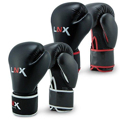 LNX Boxhandschuhe Pro Fight Evo schwarz/rot (001) 10 Oz