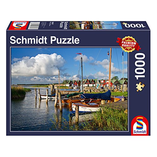 Schmidt Spiele Puzzle 58317 - Hafen Althagen, Ostseebad Ahrenshoop, 1.000 Teile Puzzle