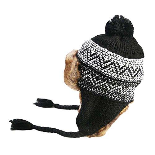 BLANCHO BEDDING Sombrero de esquí cálido Sombrero Grueso Grueso oído Gorra Gorras de esquí Gorro al Aire Libre de Punto Gorros