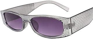 DovSnnx - DovSnnx Gafas De Sol Unisex para Hombres Y Mujers Polarizadas Protección 100% Uv400 Clásico Vintage Moda Sunglasses Imitación Diamante Gris Montura Lente Gris