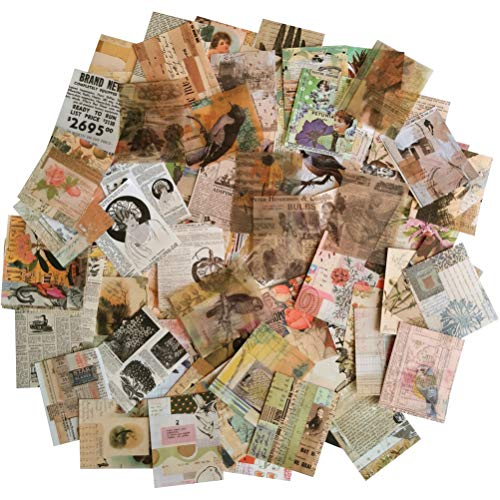 Vintage Scrapbooking DIY Material Paper Pack Animal Floral News Paper Letter Decorative Antique Retro Natural Collection Art Craft Diary Journal Embellishment Supplies