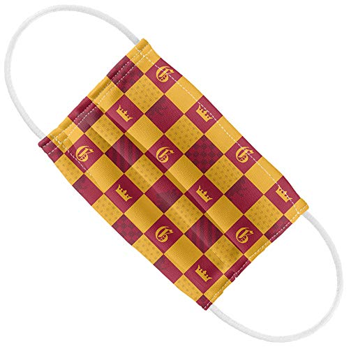 Harry Potter Kids Gryffindor Checkerboard House Pattern 1-Ply Reusable Face Mask Covering