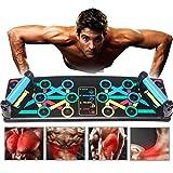 Coriver 14 in 1 Push Up Rack Board, Supporti Push-up Pieghevoli Staffa Sistema di Allenamento Tavolo da Allenamento Allenamento in Palestra Muscle Board Attrezzature per Il Fitness a casa