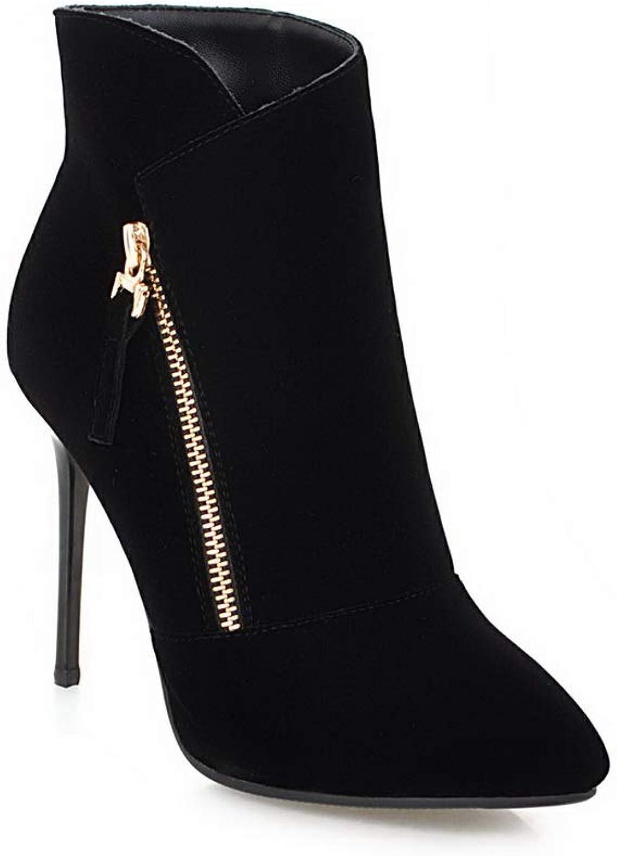 AdeeSu Womens Spikes Stilettos Pointed-Toe Imitated Suede Boots SXC03397