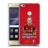 Oficial Liverpool Football Club Jordan Henderson 2019/20 Primer Equipo Grupo 1 Carcasa de Gel de Silicona Compatible con Huawei P8 Lite (2017)