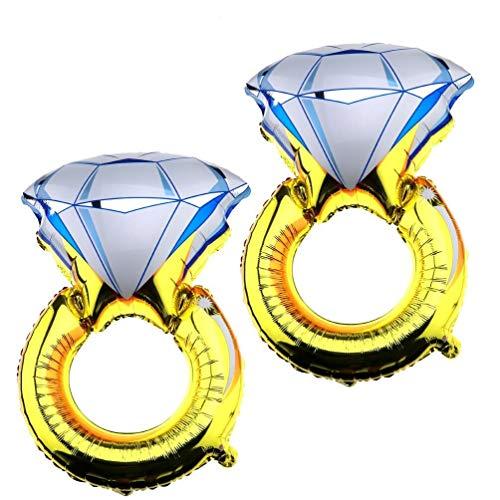 F Season Anillo de diamante grande para fiesta de boda, compromiso, decoración de fiesta, novia, fiesta, 51 x 81,3 cm