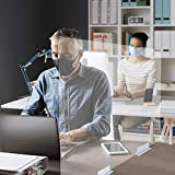 Mampara separación mesas oficina lowcost (80cm ancho x 60 cm alto)