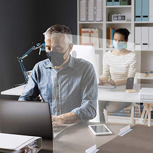 Mampara separación mesas oficina lowcost (90cm ancho x 60 cm alto)