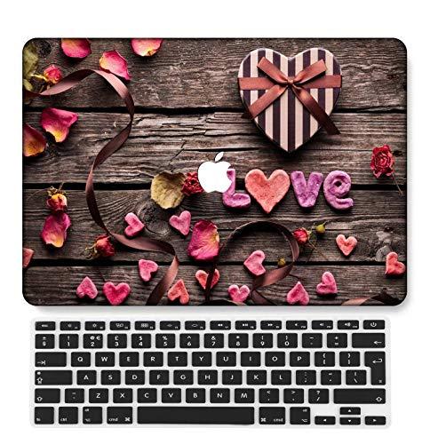 GangdaoCase Plástico Ultra Delgado Ligero Estuche RígidoDiseño Cortado Compatible 2020 Nuevo MacBook Air 13 Pulgadas con Touch ID con UK Cubierta Teclado A2179/A2337 M1 (Grano Madera A 152)