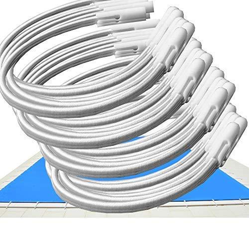 Telepiscinas Kit 24 Und. - Goma Elástica Tensores para Cobertores de Piscina – Ajustables por Apertura del canutillo (24)