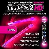ROCKSTIX 2 HD HOT PINK BRIGHT LED LIGHT UP DRUMSTICKS with fade effect Set your gig on fire! (PINK ROCKSTIX) [並行輸入品]