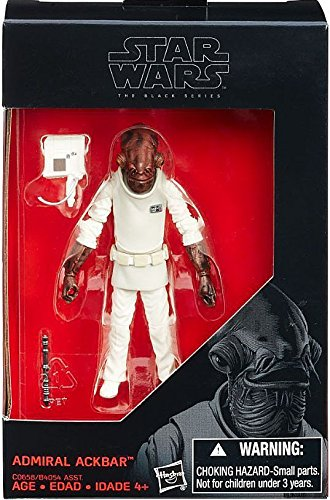 Star Wars, 2016 The Black Series, Admiral Ackbar Exclusive Action Figure, 3.75 Inches