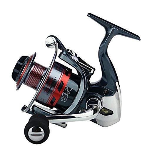 HXF- Pesca en Línea Full Metal-Gap Eje de balancín de la Rueda Pesca 14-Eje de No-Gap Carrete de la Pesca de hilar Precisión (Size : 4000)