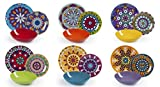 Excelsa Mandala Etno Servicio platos 18 piezas, porcelana, multicolor